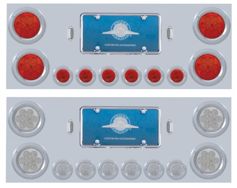Stainless Steel Rear Center Light Panel with 2