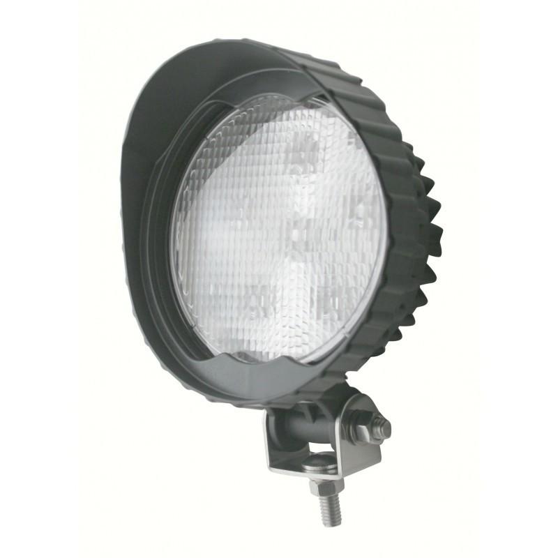 6 High Power 3 Watt 600 Lumen LED Round Work Light with Visor