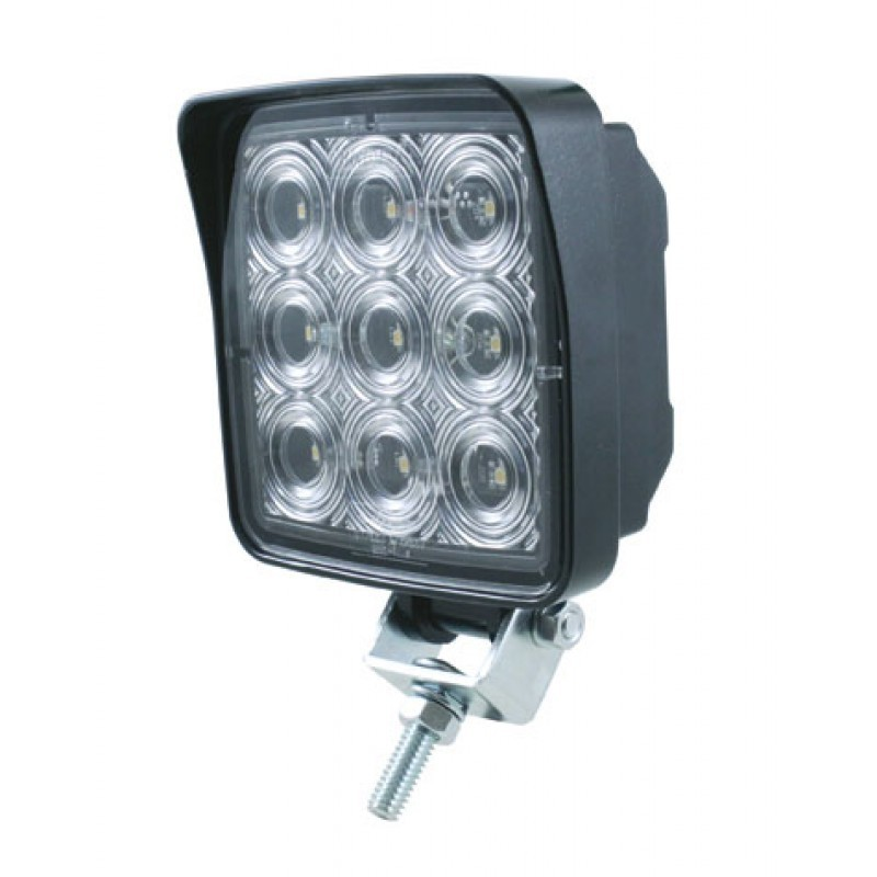 9 High Power 0.5 Watt 500 Lumen SMD LED Square Work Light