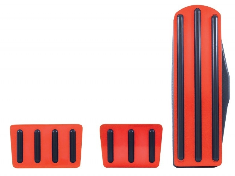Red Anodized Pedal Set for Freightliner