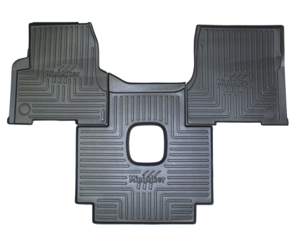 Heavy-Duty Floor Mat Kit for Volvo (manual) Models VNL 300, VNL 430, VNL 630, VNL 670, VNL 730, VNL 780, VT 2006-10