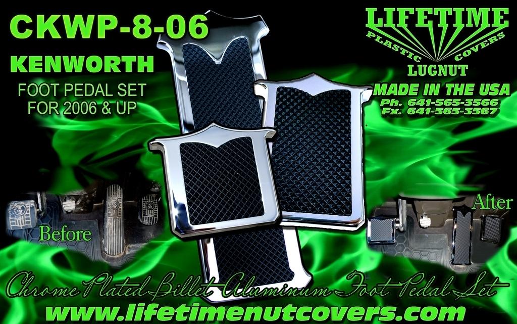 Kenworth Billet Aluminum Pedal Set