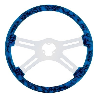 18 Inch Skull Steering Wheel - Blue