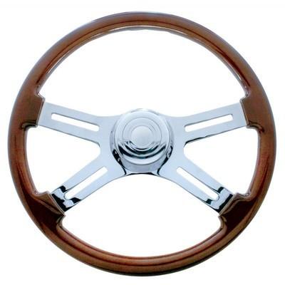 Wood/Chrome Steering Wheel 18