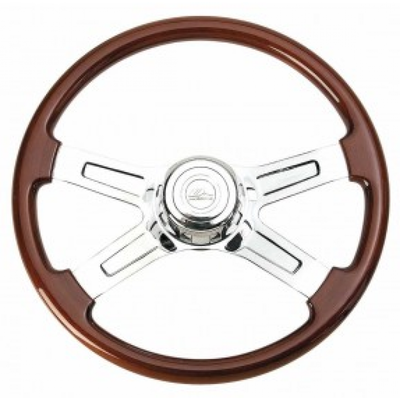 Economy Wood Steering Wheel 18