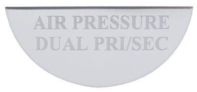 Gauge Plate Emblem - Air Pressure- Dual PRI/SEC for Freightliner