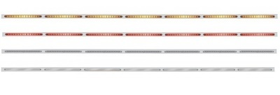 94 Inch Stainless Steel Light Bracket with 14 LED Light Bar without Reflector in Different Colors