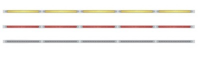 94 Inch Stainless Steel Light Bracket with 23 LED x 5 Light Bar with Bezel in Different Colors