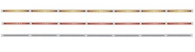 94 Inch Stainless Steel Light Bracket with 19 LED Light Bar with Reflector in Different Colors
