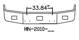 Peterbilt 377 Bumper 12 Inch