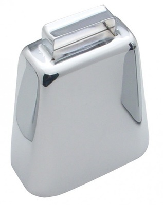 4 3/4 Inch Large Chrome Cow Bell