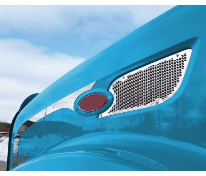 Chrome Air Intake Grille for Peterbilt 579
