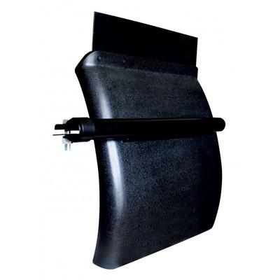 24 Inch x 24 Inch Black Poly Quarter Fender - Set of 2