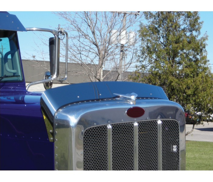 Stainless Steel Bug Deflector for Peterbilt 389