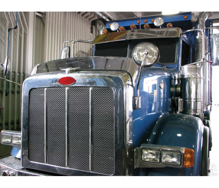 Stainless Steel Bug Deflector for Peterbilt 367