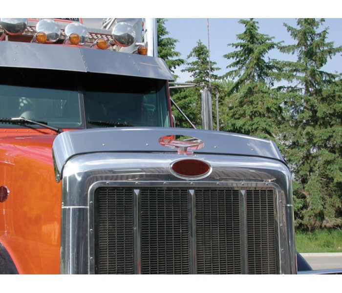 Stainless Steel Bug Deflector for Peterbilt 378