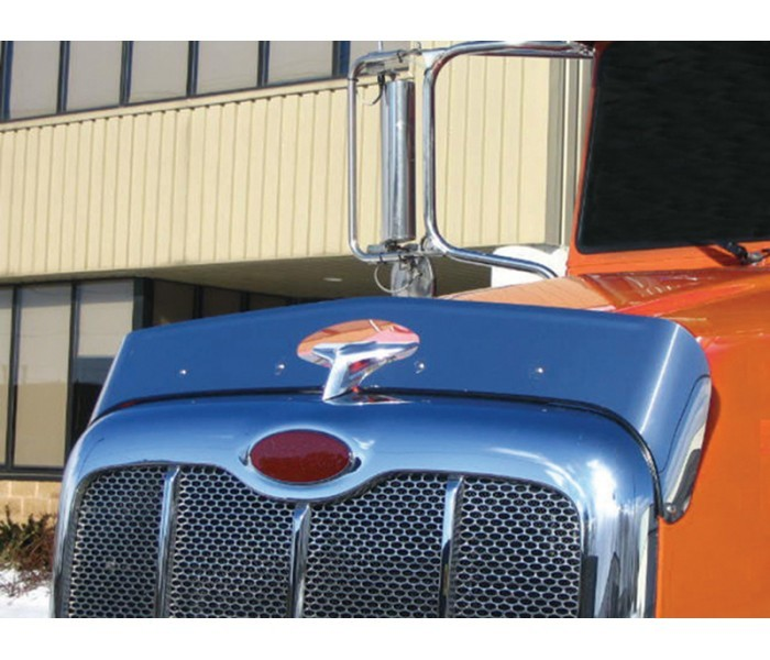 Stainless Steel Bug Deflector for Peterbilt 386