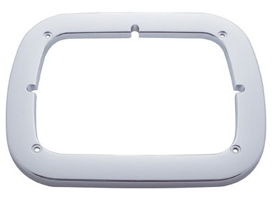 Chrome Single 6 Inch x 8 Inch Headlight Bezel