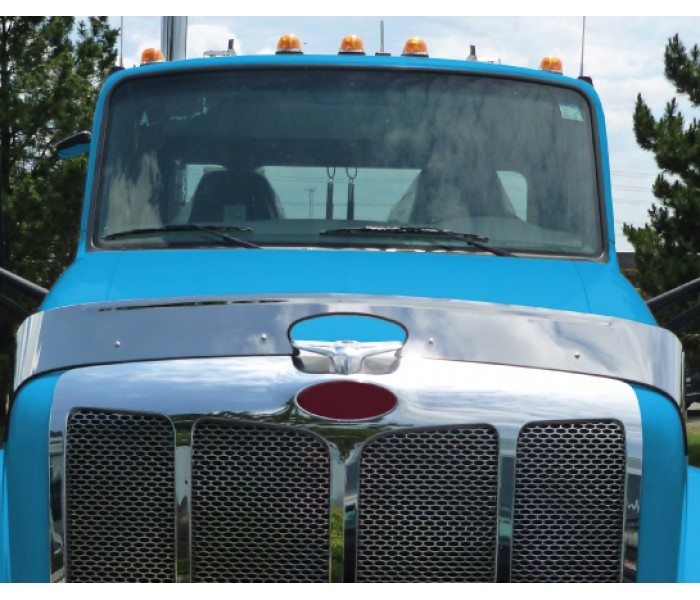Stainless Steel Bug Deflector for Peterbilt 579
