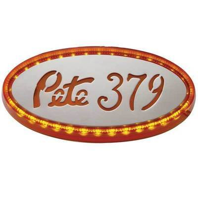 32 LED Peterbilt Emblem Light in Amber or Red