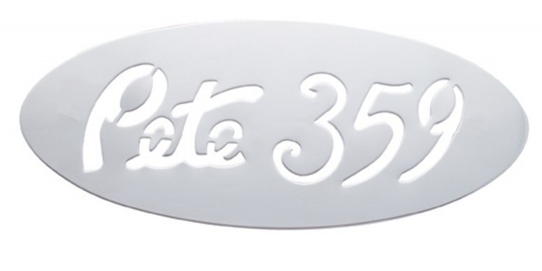 Stainless Steel Emblem Plate for Peterbilt 359