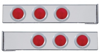 Flange Mount Rear Light Bar with Six 4 Inch Lights & Bezel