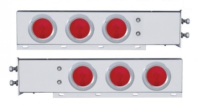 2 1/2 Inch Bolt Pattern Spring Loaded Light Bar with Six 4 Inch Lights & Bezels