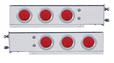 3 3/4 Inch Bolt Pattern Spring Loaded Light Bar with Six 4 Inch Lights & Bezels