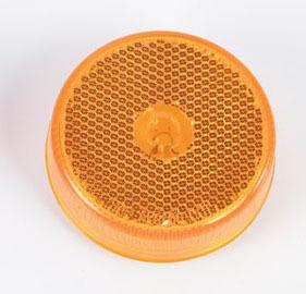 2-1/2″ Round Reflex Lens Marker Light – Amber