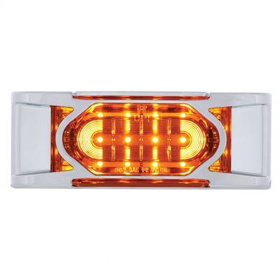 16 LED Reflector Clearance/Marker Light w/ Chrome Bezel
