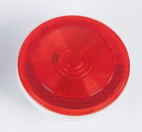4″ Round Reflex Lens Tail Light – Red