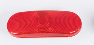6″ Oval Tail Light – Red