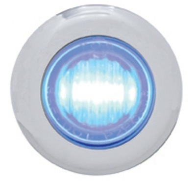 3 LED Mini Clearance/Marker Light Chrome with Bezel in Different Colors