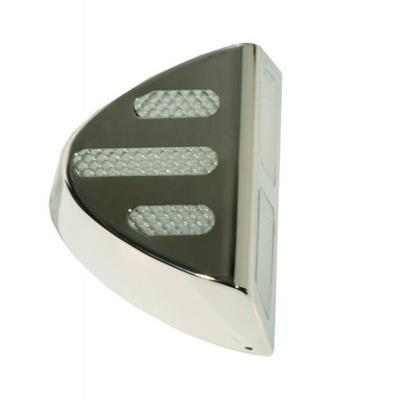 Stainless Steel Marker Light Covers-Clear Lens for Peterbilt 370 Series