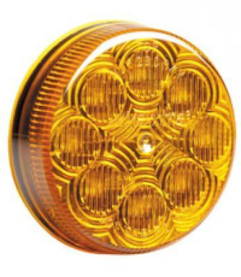 2 1/2 Inch Round Clearance Marker with Amber or Clear Lens