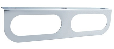 Oval Stainless Light Bracket with Flange - 2 Hole