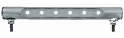 6 LED Stainless Steel Tube License Plate Light
