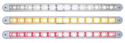 "2 High Power LED ""Hyper Mini14 LED 12 Inch Auxiliary Warning Light with Chrome Bezel"" Pedestal Light"