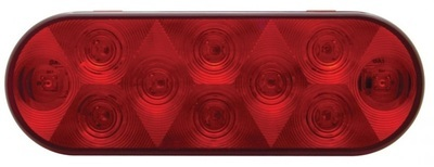 Oval Red LED Tail light