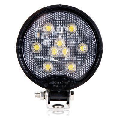 Square Light Weight Composite 500 Lumen 9 LED Work Light - 12/24VDC