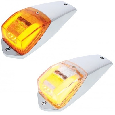 24 LED Rectangular Cab Light with GLO Effect with Amber or Clear Lens
