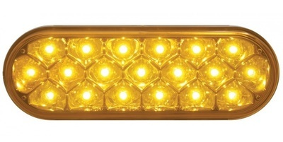 19 LED 6 Inch Oval Reflector Stop, Turn & Tail or Park, Turn, Clearance Light