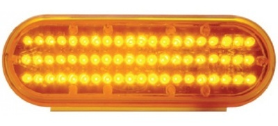 60 LED 6 Inch Oval Reflector Stop, Turn & Tail or Park, Turn, Clearance Light