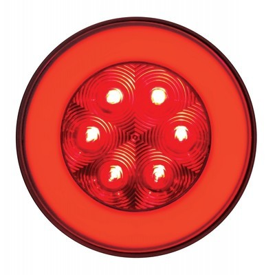 21 LED 4 Inch Round Stop/Turn/Tail and Park/Turn/Clearance with GLO Effect