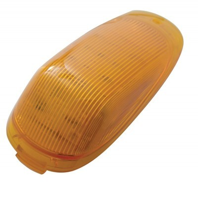 19 Amber LED Grakon 2000 Cab Light with Amber or Clear Lens for Peterbilt and Kenworth