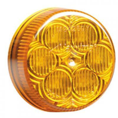 2 Inch Round Clearance Marker - Amber or Clear Lens
