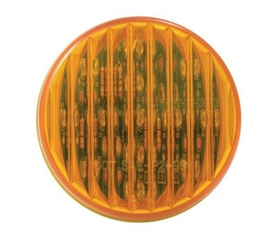 2'' Round LEDs with Ribbed Amber, Red, or Clear Lens