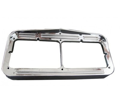 Flatline Dual Rectangular Headlight Bezel with 50 LEDs in Different Colors