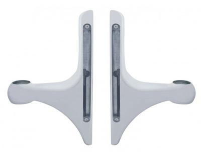 Polished L Shape Headlight Brackets with LED Cutouts