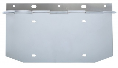Chrome 1 License Plated Angled Holder with Hinge